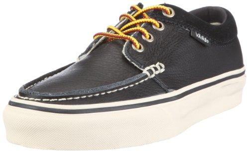Vans U 106 MOC (Leather) Black VNJIL3A, Unisex - Erwachsene Sneaker, Schwarz ((Leather) black), EU 44 (US 10.5)