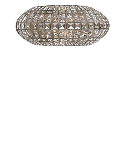 Gold Coast Lighting Solstice 2-Light Hand Cut Glass Wall Sconce, Antique Silver