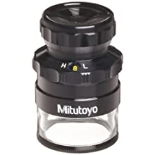 "Mitutoyo 183-304 Loupe with Reticle, 8x-16x Magnification, 0.0005"" Scale Graduation"