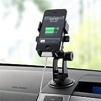 サンワダイレクト iPhone スマートフォン 車載ホルダー 簡単取り外し オートホールド機能