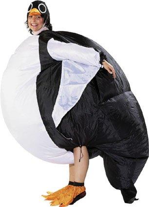 karneval kost m aufblasbar fasching pinguin ean. Black Bedroom Furniture Sets. Home Design Ideas