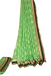 KC Indian Latest Saree Designer Crused Chiffon with Nurgish Boota Border Blouse On Sale Price
