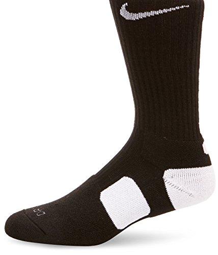 ナイキ(NIKE) エリート バスケットボール クルー ソックス SX3629 007 ブラック/ホワイト 27-29cm