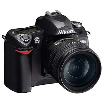 Nikon D70s (with 18-70mm and 55-200mm Lenses)