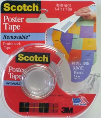3M 109 Wallsaver Removable Mounting Tape, 6-pack