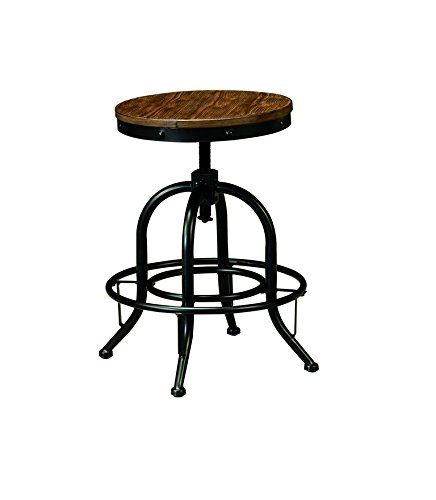 Signature Design by Ashley Pinnadel Swivel Stool, Light Brown, Set of 2, Counter Height 1