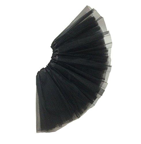 Sanway balletto delle ragazze gonne TUTU chiffon fata vestire, nero