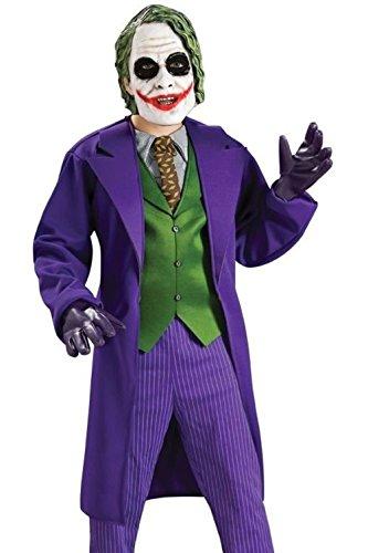 Mememall Fashion The Joker Costume Deluxe Child Boys Dark Knight S 4-6 M 8-10 L 12-14 (Dark Knight Costume Replica)