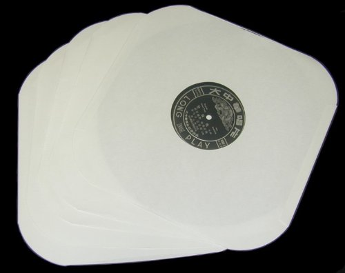 50 12″ LP / Album White Paper Vinyl Record Sleeves / Protectors – Heavy 20# Weight Paper With Hole For Viewing Label – Made In USA