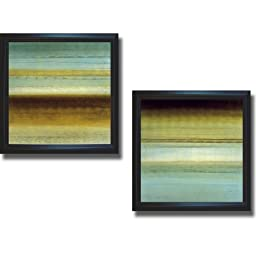 Beauty in Blue I & II by Randy Hibberd 2-pc Premium Satin-Black Framed Canvas Set (Ready to Hang)