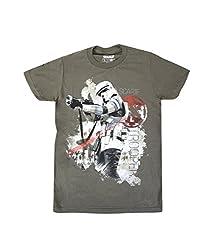 Star Wars Men's Rogue One Scarif Trooper Sg T-Shirt, Military Green, XX-Large