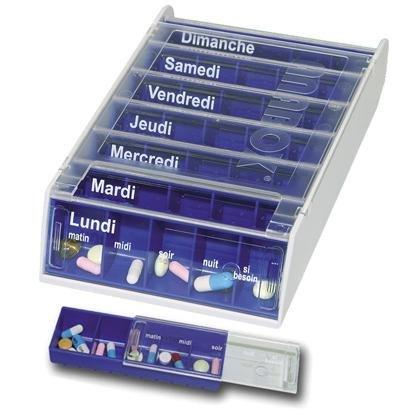 ANABOX - Pilulier Anabox hebdomadaire bleu