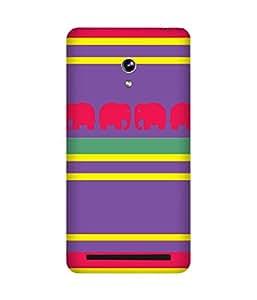 Stripes And Elephant Print (1) Asus Zenfone 6 Case