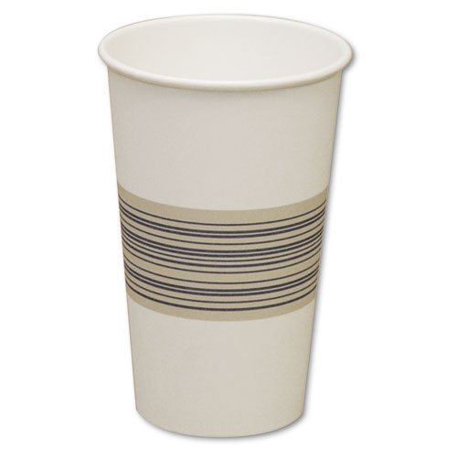 Boardwalk Paper Hot Cups, 16 oz, Blue/Tan - Includes 20 packs of 50 each.