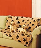 41S7ig jaGL. SL160  5 Paw Print Dog Throw Blanket Vehicle Couch Cover