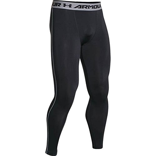 Under Armour Men's Armour? Heatgear? Compression Legging Black/Steel Pants MD X 26