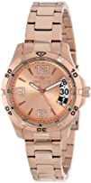 Invicta Womens 15120 Specialty Rose Gold Tone Dial 18k Ion-Plated