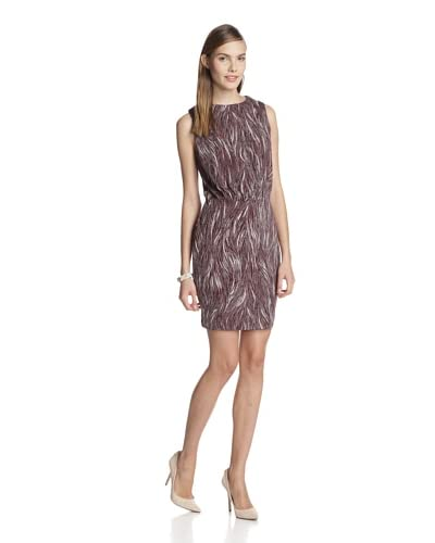 Susana Monaco Women's Erin Feather Print Open Back Dress