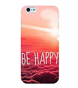 Be happy 3D Hard Polycarbonate Designer Back Case Cover for Apple iPhone 6 Plus :: Apple iPhone 6+