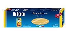 De Cecco Pasta, Bucatini, 16 Ounce (Pack of 5)