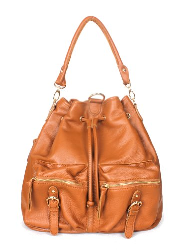 Backpack Luxe Shoulder All Leather (Orange brown)