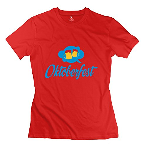 Ywt Germany Female T Shirt Slim Fit Cool Red