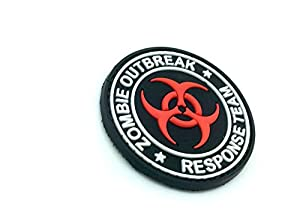 Patch Velcro Airsoft PVC Rouge Zombie Outbreak Response Team