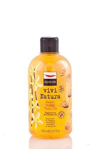 Vivi natura Sweet honey vanilla di Aquolina, Bagnoschiuma Donna - Flacone 500 ml.