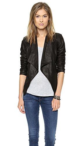 Bb Dakota Women'S Tyne Leather Jacket, Black, Medium