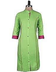 Nirja Creation's Green Color Trendy Designer Kurti