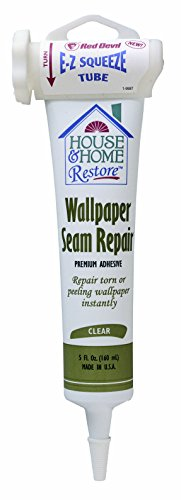 Red Devil 0878 Wallpaper Seam Repair Adhesive, EZ Squeeze Clear, 5-Ounce (Wallpaper Removal Solution compare prices)