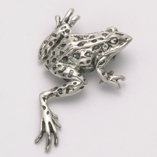Sterling Silver Northern Leopard Frog Pin