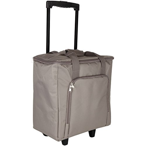 Home-X Rolling Craft Tote with Retractable Pull Handle (Portable Spinning Wheel compare prices)
