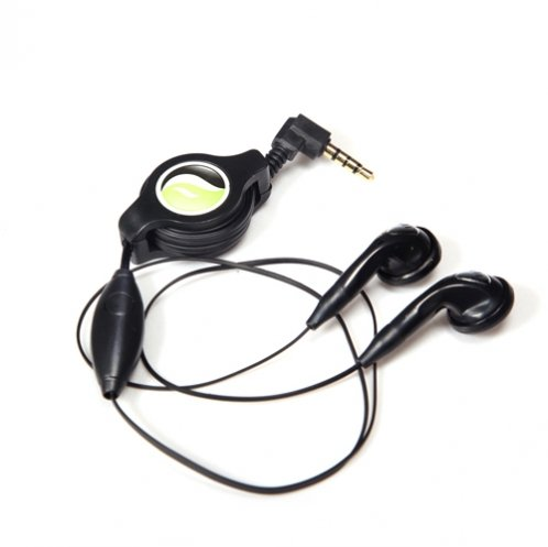 Fonus Retractable Wired Stereo 3.5Mm Headset Headphones Mic Hands-Free Corded Earphones Earbuds Earpieces For Motorola Droid Razr Maxx, Razr M - Lg Lucid2 - Google Lg Nexus 4 - Htc Droid Incredible 4G Lte - Htc Evo 4G Rhyme Inspire Rezound One X X+