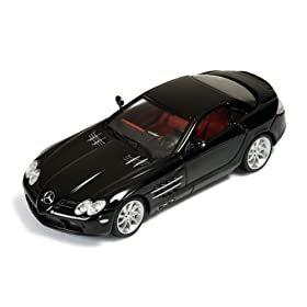 diecast car of Mercedes McLaren SLR 2003 Black with Red Interior 1/43 Scale diecast Model
