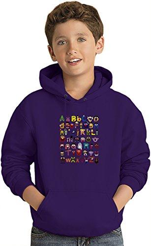 Sesame Street Alphabet Felpa leggera con Cappuccio per Bambini Lightweight Hoodie For Kids | 80% Cotton-20%Polyester| 7-8 yrs