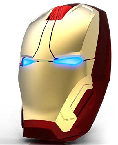 iron man アイアンマン ワイヤレス Bluetooth マウス USB 光学式 (GOLD) [並行輸入品]