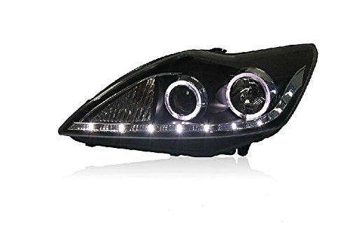 Auptech Ford Focus 2009-2011 Headlight Assembly Angel Eyes Halogen Hid Led Projector Headlight Lamp