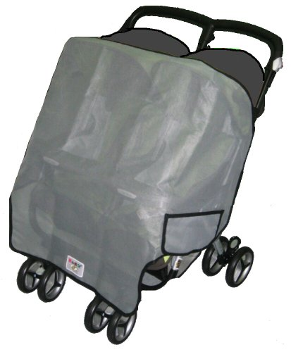 Sashas Sun, Wind And Insect Cover For Graco Twin Ipo And Duo Rider Side By Side Double Stroller front-179603