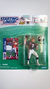 JOHN ELWAY / DENVER BRONCOS 1997 NFL Starting Lineup Action Figure & Exclusive NFL Collector Trading Card