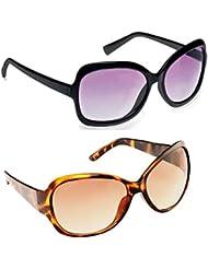 New Stylish UV Protected Combo Pack Of Sunglasses For Women / Girl ( BlackButterfly-BrownButterfly ) ( CM-SUN-...