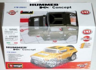 Bburago Die-Cast Model Kit -- Hummer Hx Concept Car NEW Batch Box 35100 9