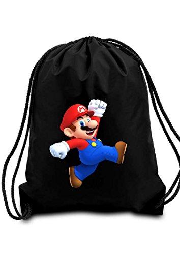 Nero Super Mario Sacca di scuola/PE/Palestra/Kit