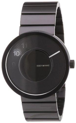 Issey Miyake VUE LAV002 - Reloj unisex de cuarzo, correa de acero inoxidable color negro