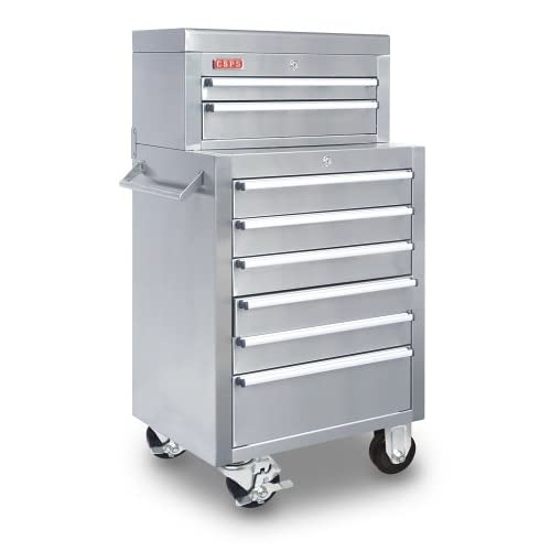 22   8 Drawer Stainless Steel Toolbox (Tool Chest