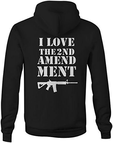 I Love 2nd Amendment AR15 Gun Rights Rifle Full Zip Sweatshirt - Med