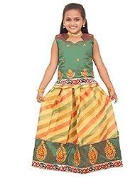 Kanakadara Self Design Girls Lehenga Choli