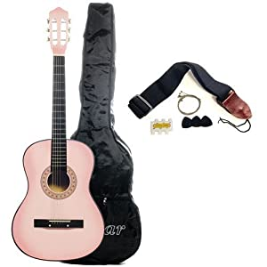 "Mighty Instruments 38"" Acoustic Guitar Starter Package (Guitar, Gig Bag, Strap, Pick) by Mighty Instruments"