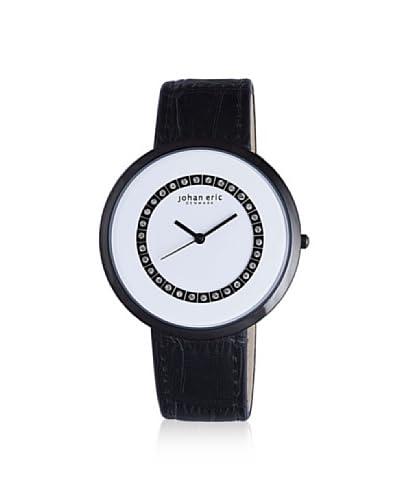 Johan Eric Women's JE5002-13-007 Vejle Black/White Leather Watch