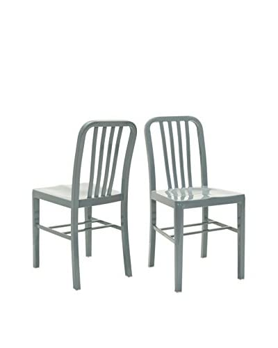 Safavieh Set of 2 Polaris Side Chair, Grey